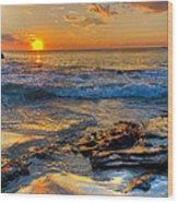 Burns Beach Wa Wood Print by Imagevixen Photography