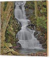 Buttermilk Falls Wood Print by Stephen  Vecchiotti