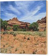 Capitol Reef Castle Wood Print