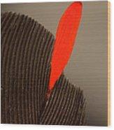 Cedar Waxwing Feather Wood Print