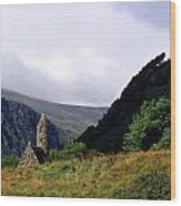 Chapel Of Saint Kevin At Glendalough Wood Print