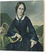 Charlotte Bront� Wood Print