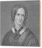 Charlotte Bronte, English Author Wood Print by Photo Researchers