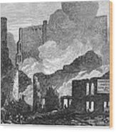 Chicago: Fire, 1871 Wood Print