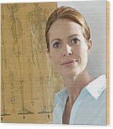 Chiropractor Wood Print