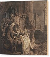 Christ Before Pilate Wood Print