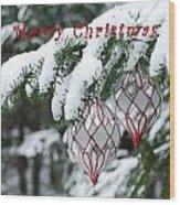 Christmas Card 2194 Wood Print