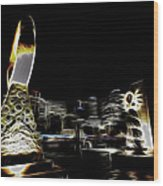 City Lights Wood Print