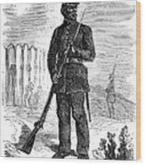 Civil War: Black Troops Wood Print