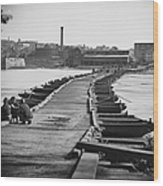 Civil War: Pontoon Bridge Wood Print