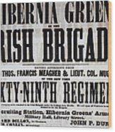 Civil War: Recruiting Wood Print