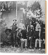 Civil War: Signal Corps Wood Print