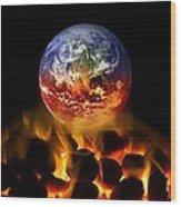 Climate Change, Conceptual Image Wood Print