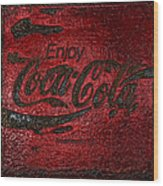 Coca Cola Classic Vintage Rusty Sign Wood Print