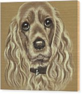 Cocker Spaniel Wood Print by Patricia Ivy