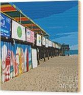 Cocoa Beach Pier Florida Wood Print