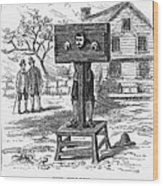 Colonial Pillory - To License For Professional Use Visit Granger.com Wood Print