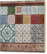 Colorful Glazed Tiles Wood Print
