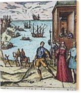 Columbus: Departure, 1492 Wood Print