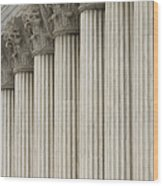 Columns Of The Supreme Court Wood Print by Roberto Westbrook