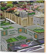 Covent Garden Flower Market Wood Print