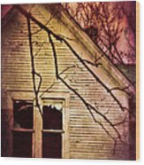 Creepy Abandoned House Wood Print