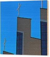 Crosses Of Livingway Church Wood Print