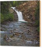 Crystal River Waterfall Wood Print