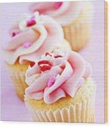 Cupcakes Wood Print by Elena Elisseeva