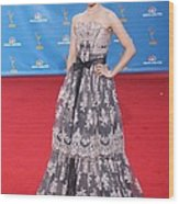 Dianna Agron Wearing A Carolina Herrera Wood Print by Everett