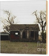 Dilapidated Old Farm House . 7d10341 Wood Print by Wingsdomain Art and Photography