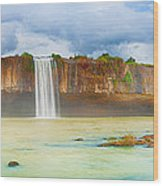 Dry Nur Waterfall Wood Print