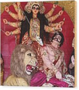 Durga Goddess 2012 Wood Print by Rajan Advani