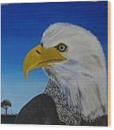 Eagle At Dusk Wood Print