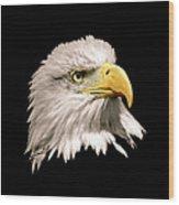 Eagle Profile Front Wood Print