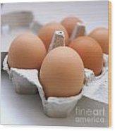 Eggs Wood Print