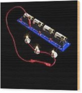 Electrical Circuit Wood Print by