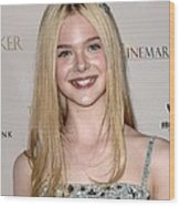 Elle Fanning At Arrivals For The Wood Print by Everett