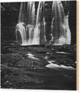 Ess-na-crub Waterfall On The Inver River In Glenariff Forest Park County Antrim Northern Ireland Uk Wood Print