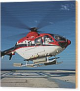 Eurocopter Ec135 Utility Helicopter Wood Print
