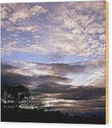Evening Skies Wood Print
