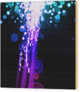 Explosion Of Lights Wood Print by Setsiri Silapasuwanchai