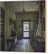 Farmhouse Entry Hall And Stairs Wood Print