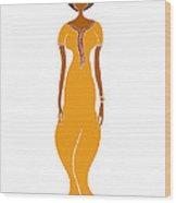 Fashion Drawing Wood Print