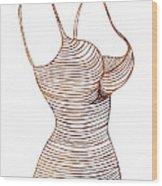 Fashion Sketch Wood Print