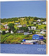 Fishing Village In Newfoundland Wood Print