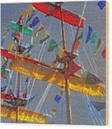 Flags Of Gasparilla Wood Print