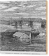 Flood: Clarksville, 1874 Wood Print