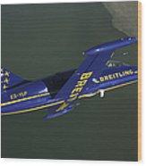 Flying With The Aero L-39 Albatros Wood Print