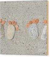 Footprints Wood Print